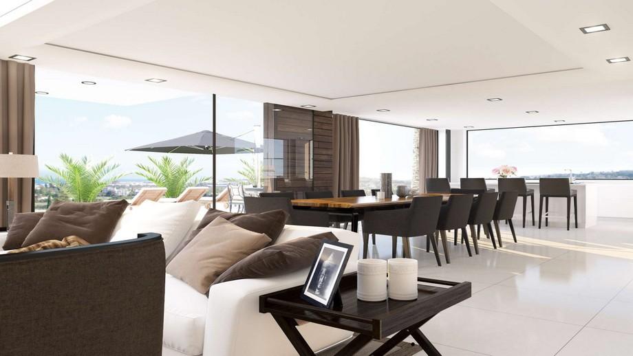 Thiết kế nội thất phòng ăn của biệt thự hiện đại tại Nueva Andalucia tầng 1