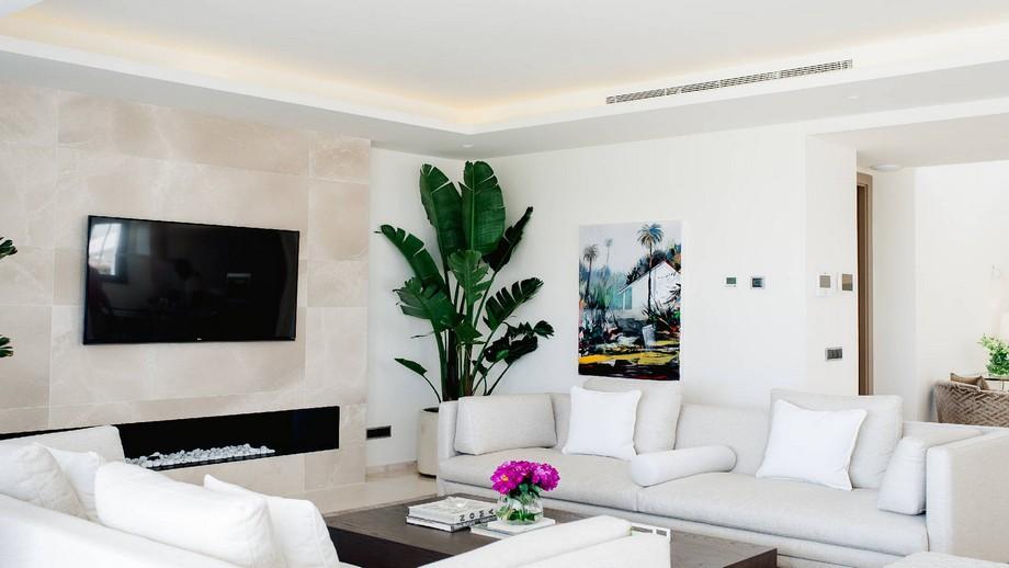 Thiết kế nội thất phòng khách biệt thự hiện đại tại Nueva Andalucia tầng 2