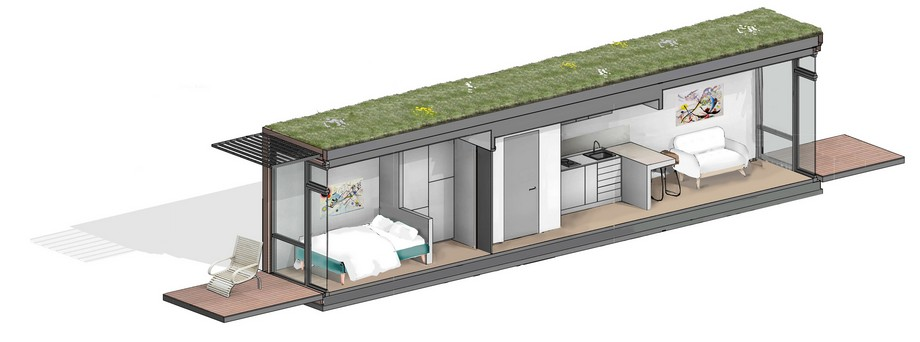 Thiết kế nhà siêu nhỏ bằng vật liệu container