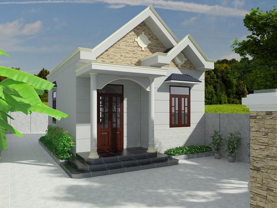 Thiết kế nhà cấp 4 diện tích 5x10m