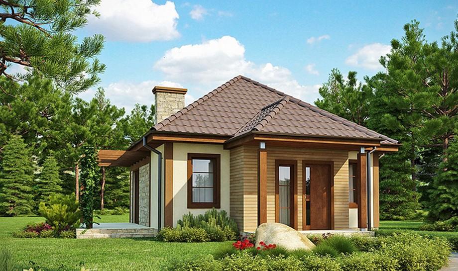 Thiết kế nhà cấp 4 diện tích 5x10m mái thái với sân vườn xung quanh