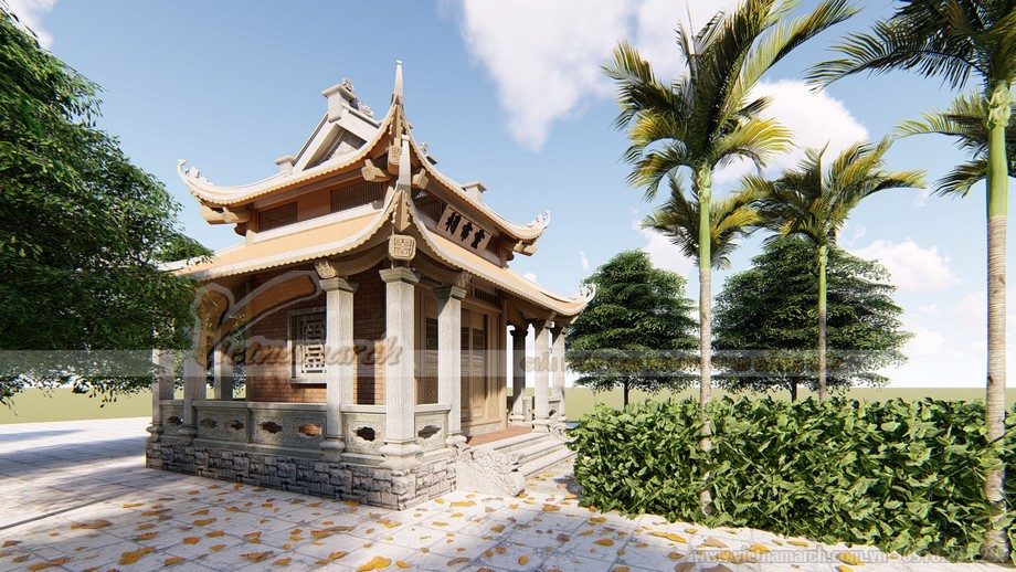 Phương án thiết kế nhà thờ họ diện tích nhỏ trở nên thoáng rộng và đẹp trang nghiêm