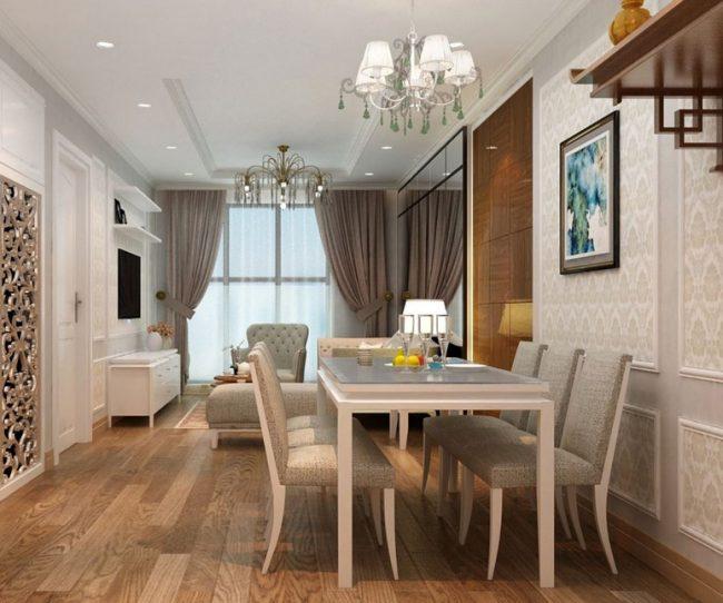 Thiết kế nội thất chung cư tân cổ điển 100m2
