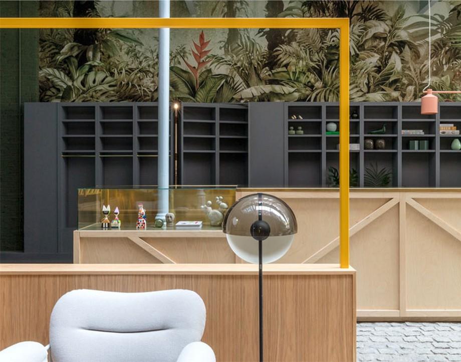 Từng chi tiết trong thiết kế nội thất coworking space tại Anh khá độc đáo và thú vị