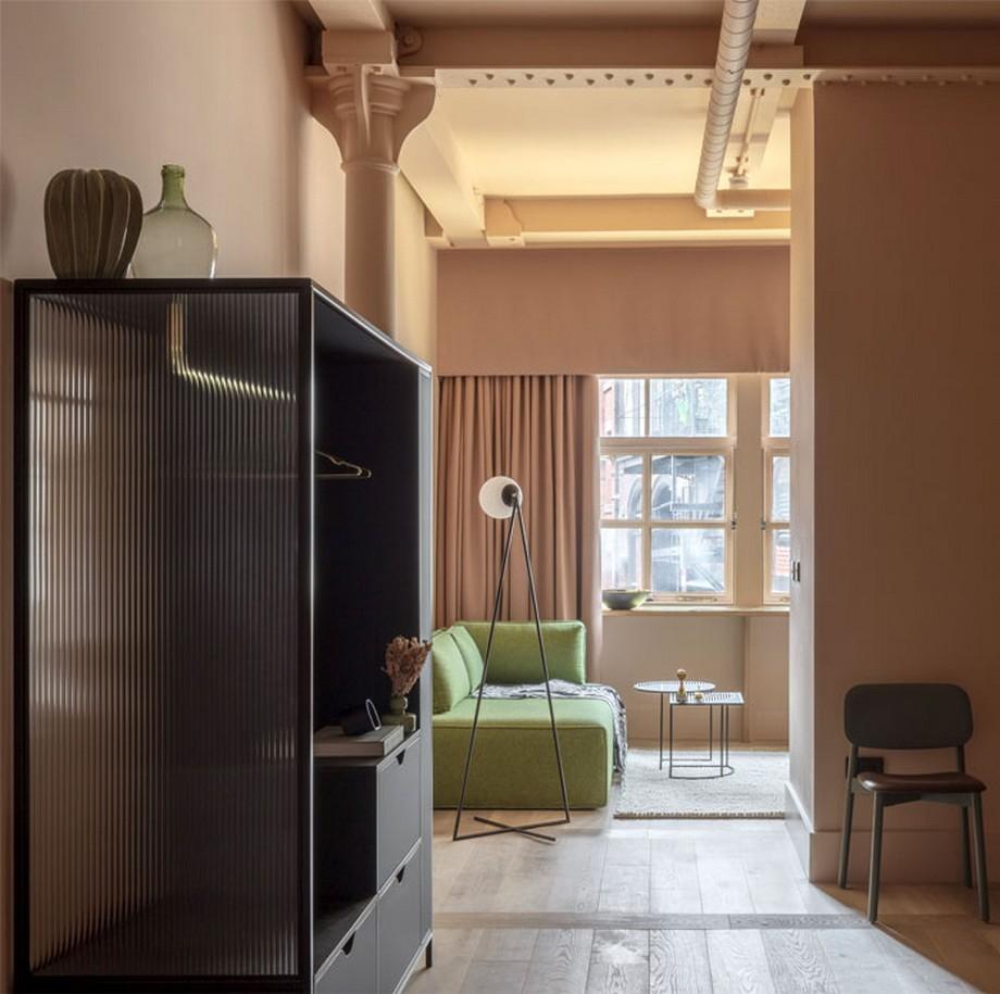 Thiết kế nội thất phòng khách sạn phong cách vintage