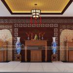 Thiết kế mẫu nhà thờ họ kết hợp nội thất đẹp theo phong cách hiện đại cho nhà anh Minh_Thừa Thiên Huế