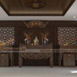 Nét đẹp truyền thống và hiện đại qua mẫu thiết kế nội thất từ đường tại Sông Công Thái Nguyên