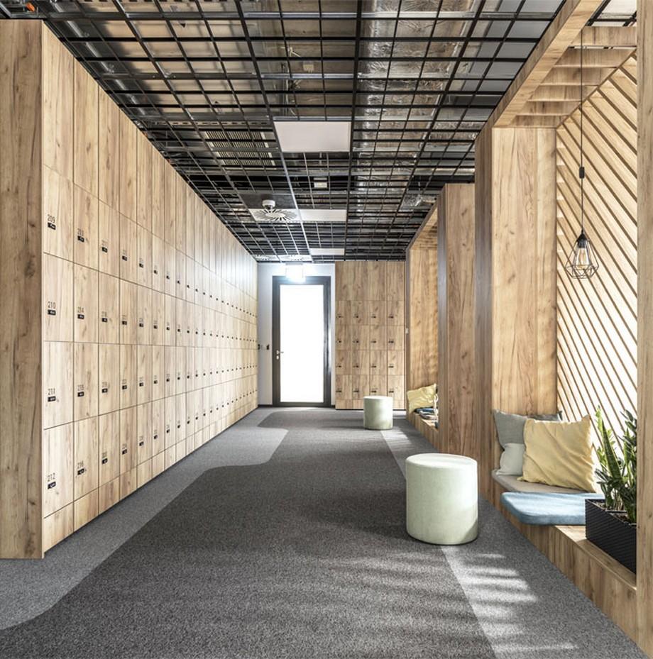 Thiết kế nội thất văn phòng tại Ba Lan khu vực lối vào