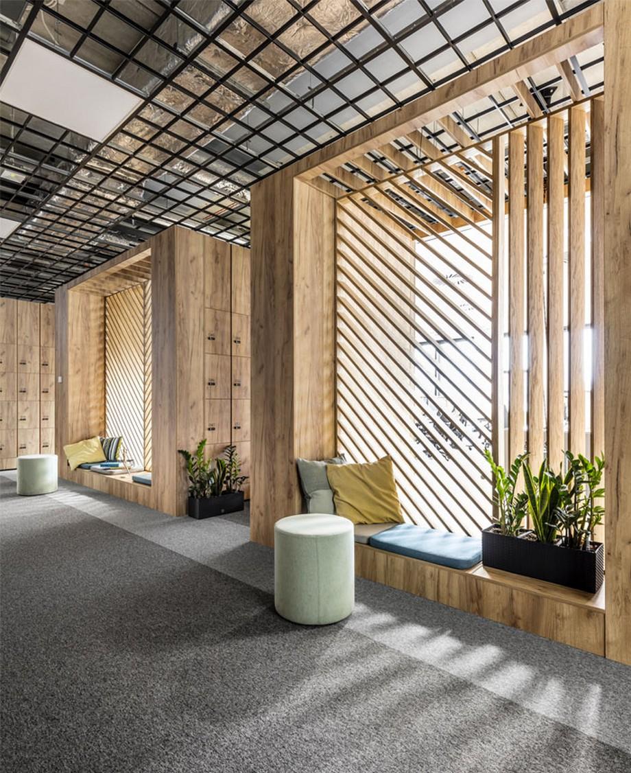 Thiết kế nội thất văn phòng tại Ba Lan với các hộp nghỉ thú vị