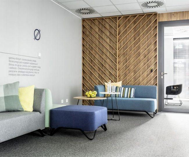 Thiết kế nội thất văn phòng tại Ba Lan phong cách hiện đại với các gam màu pastel ấn tượng
