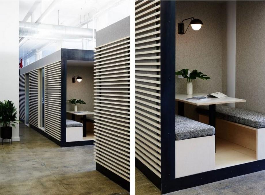 Thiết kế nội thất văn phòng khu vực phòng họp nhỏ theo phong cách Scandinavian