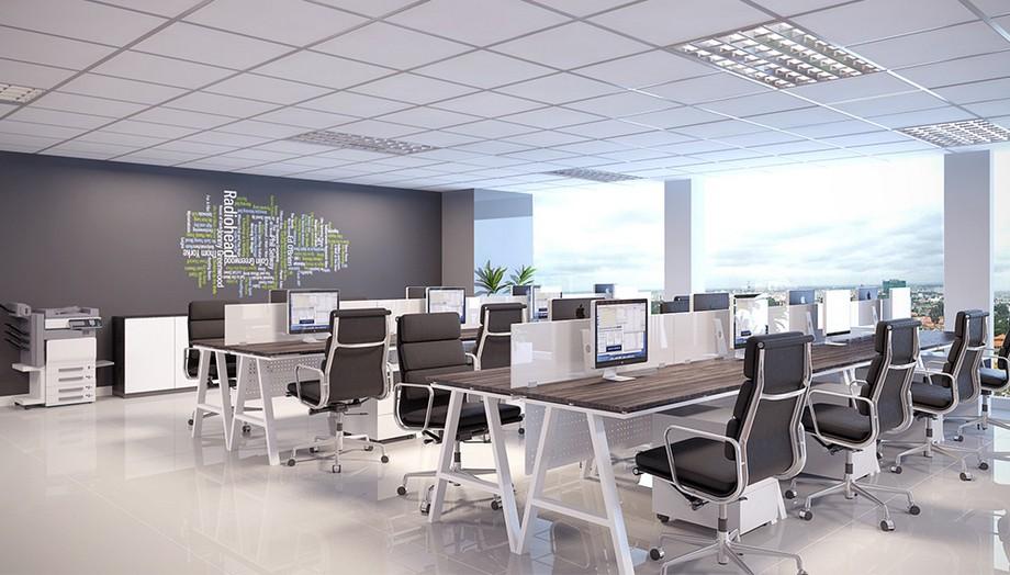 Thiết kế văn phòng 60m2 nên lựa chọn kiểu thiết kế văn phòng mở