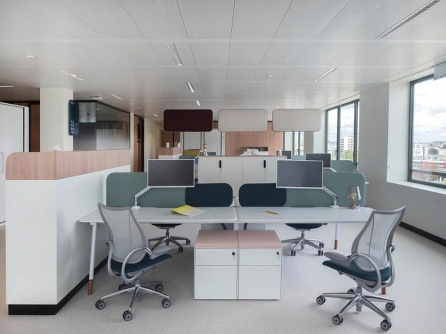 Thiết kế văn phòng 60m2 lựa chọn những gam màu sáng, gam màu trung tính