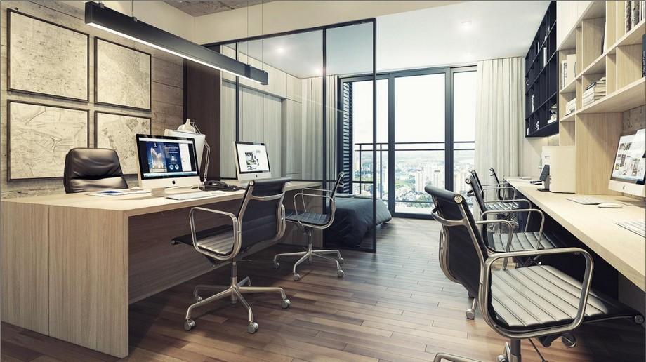 Thiết kế văn phòng 60m2 theo mô hình căn hộ offictel thú vị