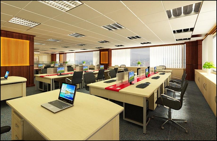 Thiết kế văn phòng 60m2 với cách bố trí hợp lý, khoa học
