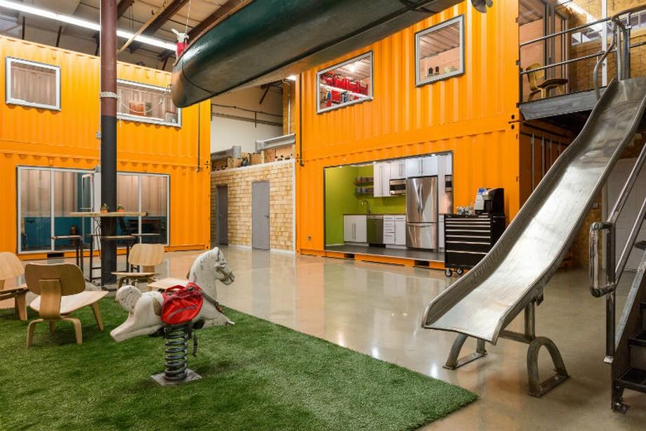 Ý tưởng thiết kế văn phòng container thân thiện với thú cưng