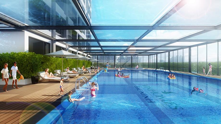 Hồ bơi của dự án Vinhomes Bắc Ninh