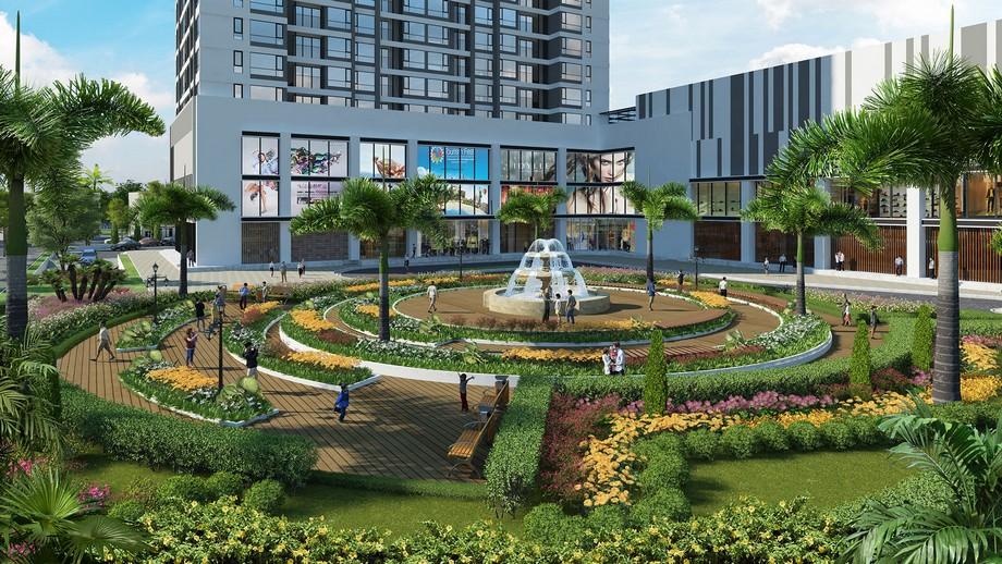 Vườn hoa, đài phun nước của dự án Vinhomes Bắc Ninh
