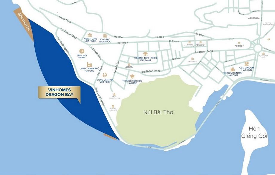 Vị trí dự án Vinhomes Dragon Bay
