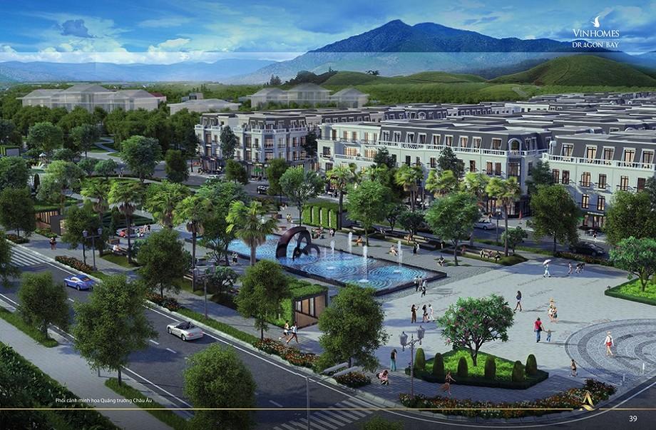 Quảng trường dự án Vinhomes Dragon Bay