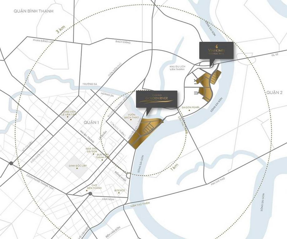 Vị trí dự án Vinhomes Golden River