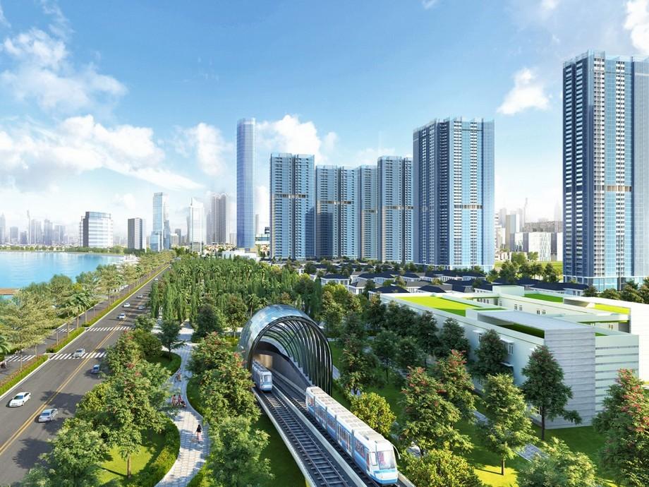 Tuyến metro Bến Thành - Suối Tiên dự án Vinhomes Golden River