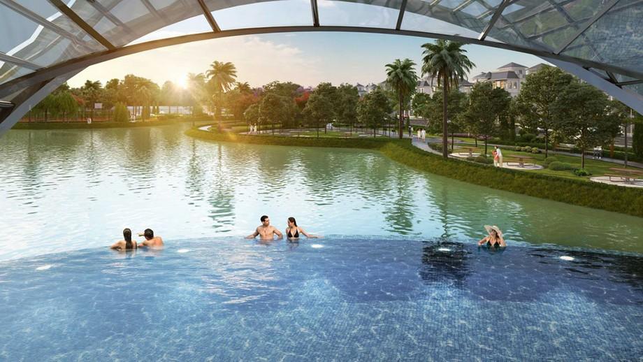 Hồ bơi trong dự án Vinhomes Green Villas