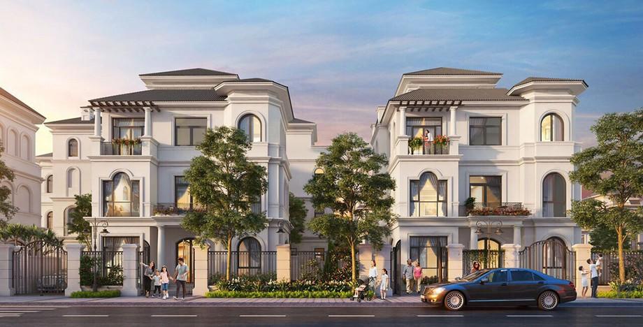 Phối cảnh 3D biệt thự thường dự án Vinhomes Green Villas