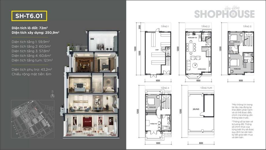 Mặt bằng shophouse dự án Vinhomes Star City