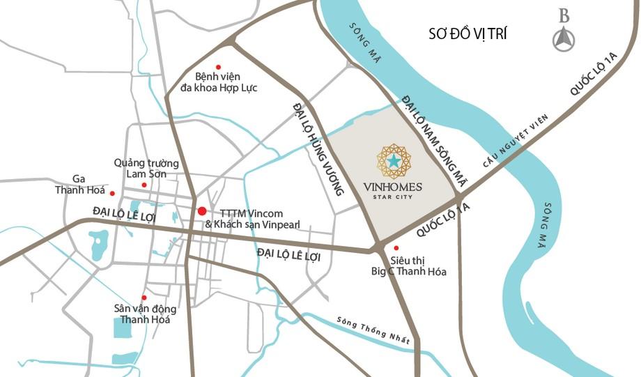 Vị trí dự án Vinhomes Star City