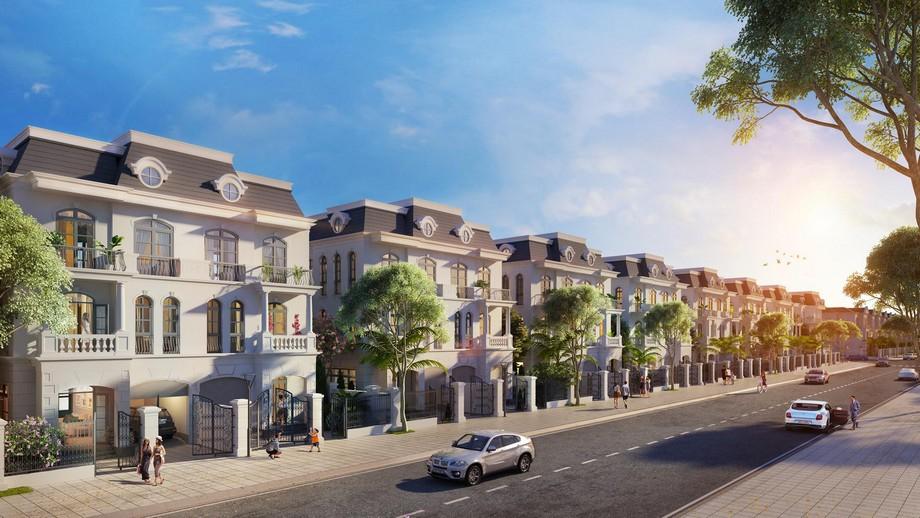 Phối cảnh biệt thự song lập dự án Vinhomes Star City