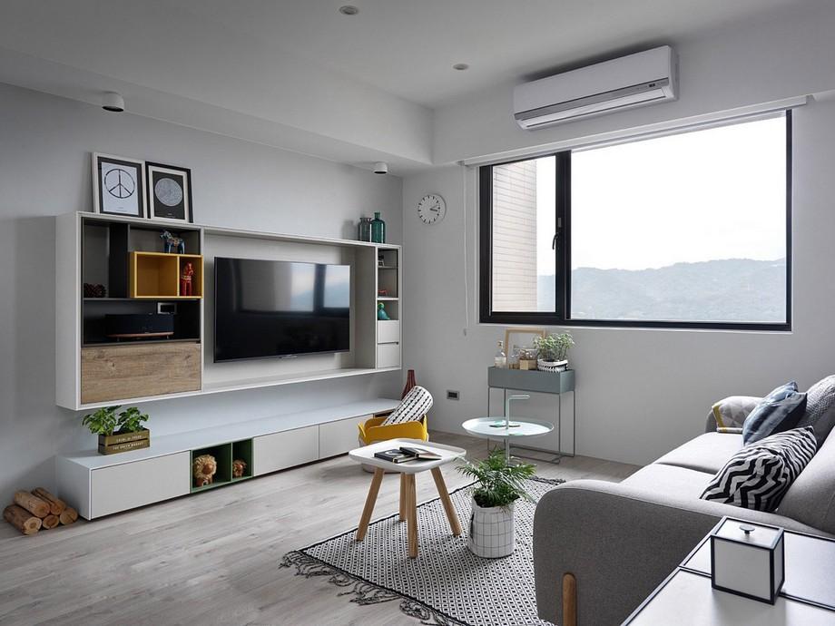 Thiết kế chung cư 70m2 đẹp phong cách Scandinavian đặc trưng là các đường nét thiết kế đơn giản, gọn gàng