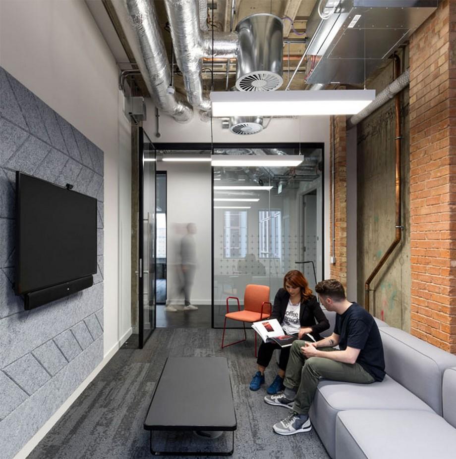 Ý tưởng trang trí nội thất văn phòng cho phòng làm việc cá nhân với vách ngăn bằng kính