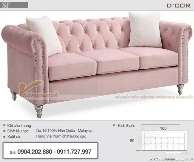 mẫu ghế sofa màu hồng ấn tượng cho phòng khách , phòng ngủ