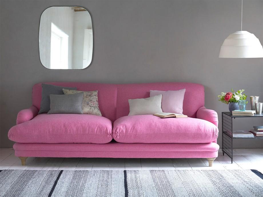 Với gam màu nhạt hơn, mẫu ghế sofa đẹp hiện đại này làm nên không gian lãng mạn và tươi mới