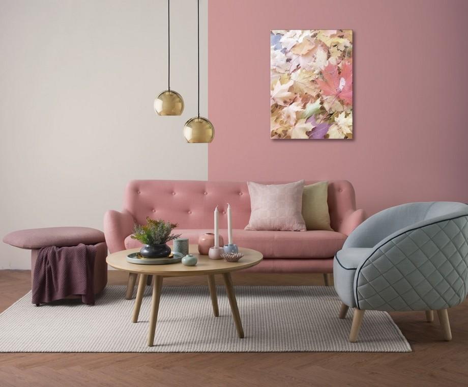 Mẫu ghế sofa màu hồng đẹp