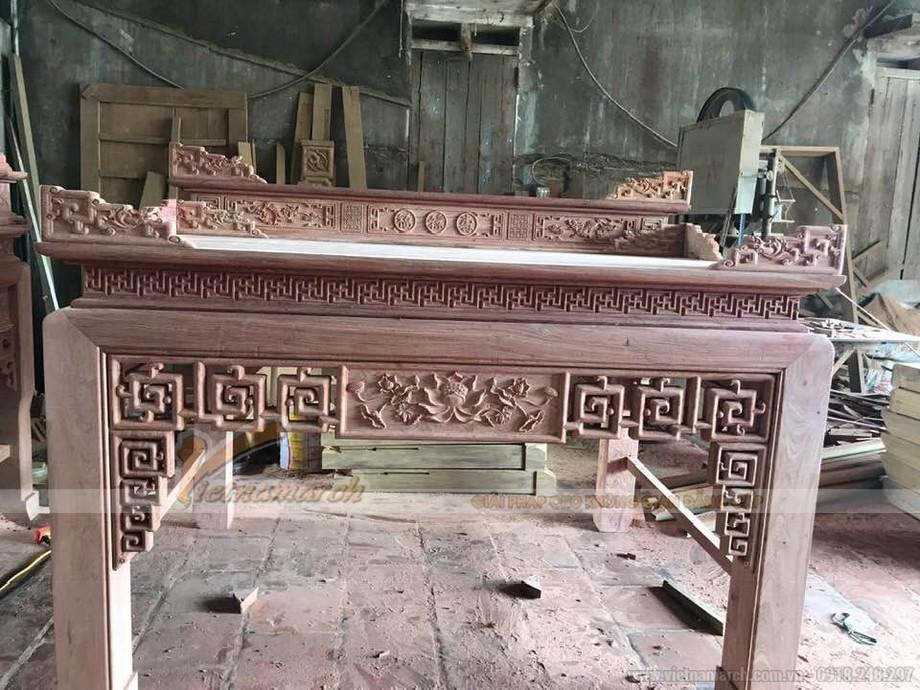 Mẫu bàn thờ Phật và bàn thờ gia tiên chung nhau
