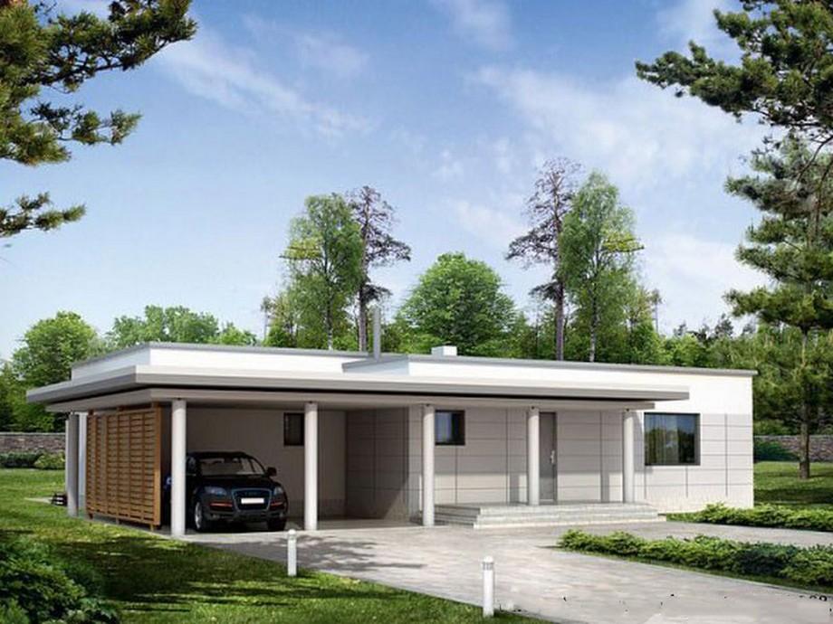 Thiết kế nhà cấp 4 có sân thượng 130m2 phong cách hiện đại