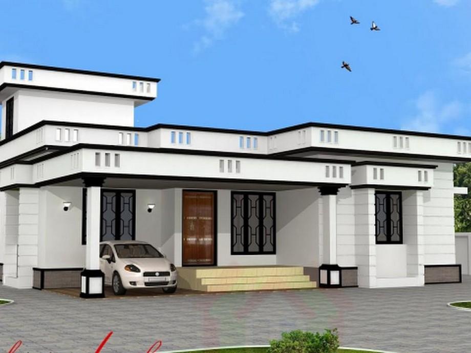 Thiết kế nhà cấp 4 có sân thượnghiện đại, tối giản và gọn gàng