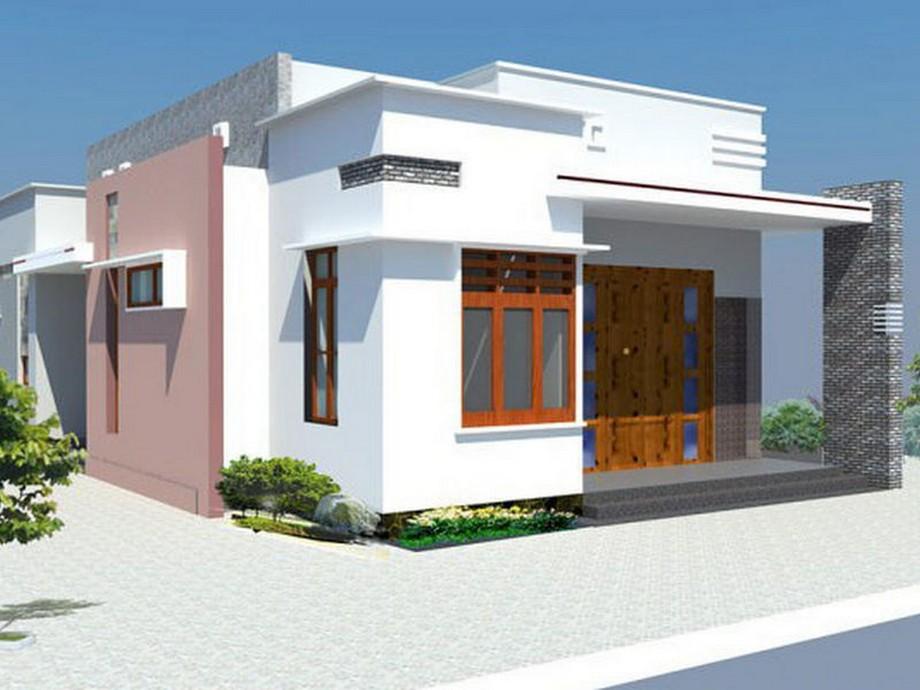 Thiết kế nhà cấp 4 có sân thượng diện tích 100m2 với 3 phòng ngủ hình dáng vuông vắn, hiện đại