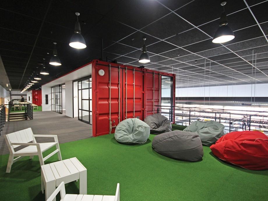 Thiết kế nội thất khu vực nghỉ ngơi trong văn phòng công ty may mặc và thời trang Cotton On ở Úc
