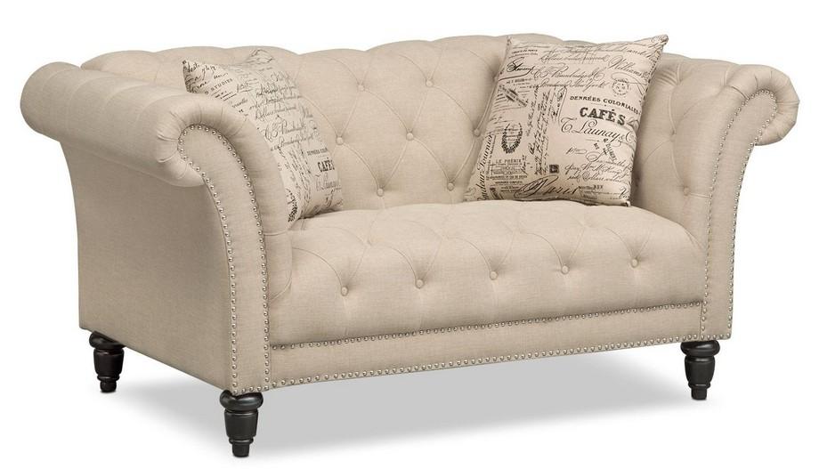 Mẫu sofa đôi phong cách tân cổ điển màu be sang trọng