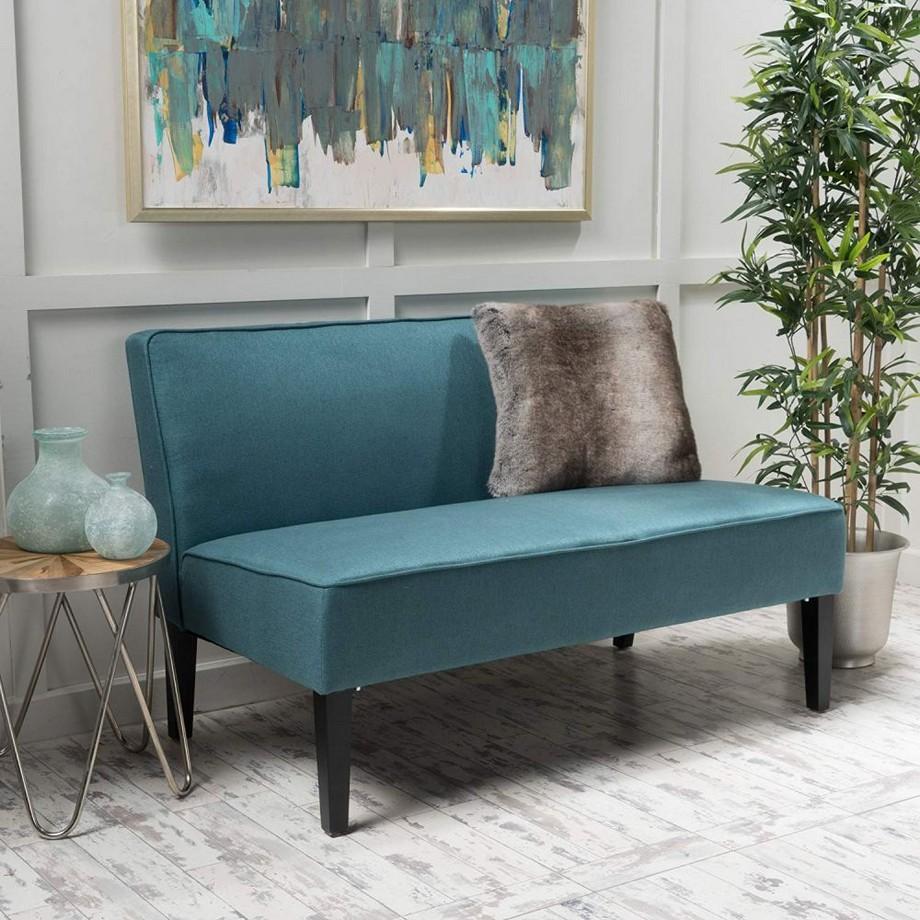 Mẫu sofa đôi màu sắc ấn tượng, kiểu dáng không tay vịn tạo sự thoải mái