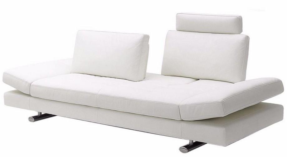 Mẫu sofa đôi thông mình kết hợp giường ngủ màu trắng thanh lịch