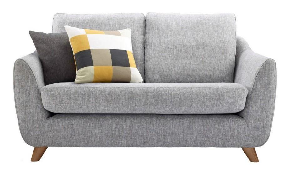 Mẫu sofa đôi màu ghi chất liệu vải nỉ hiện đại