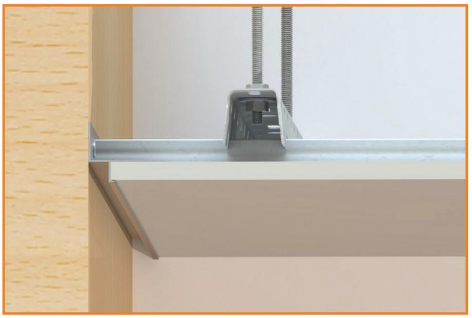 Thanh Shadowlinecó tính thẩm mỹ cao, thuận tiện trong lắp đặt, hạn chế rạn nứt tại vị trí liên kết giữa tường và trần nhà