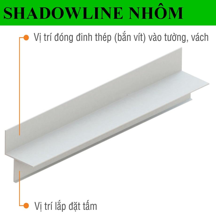 Thanh Shadowline được lắp đặt với các bước cơ bản
