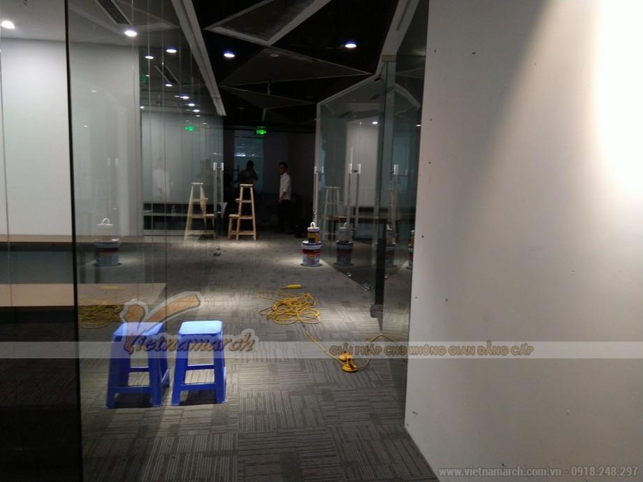 thi công nội thất văn phòng - không gian làm việc cung coworking space Dolphin