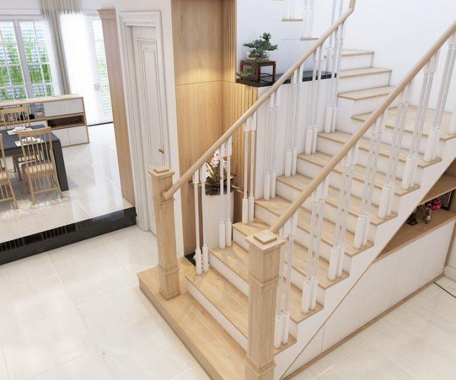 Thiết kế cầu thang đẹp cho biệt thự