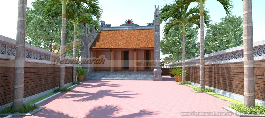 Mẫu thiết kế nhà thờ họ 3 gian 2 mái tại Hà Nam